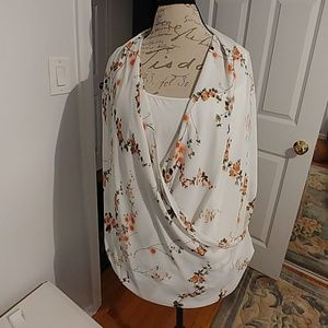 NY & Co wrap front top